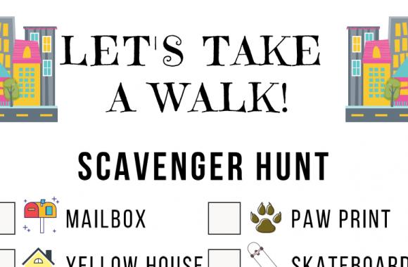 August Scavenger Hunt