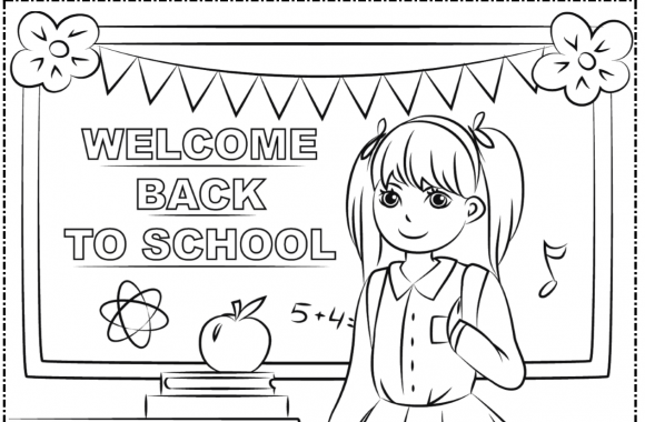 September Coloring Page 2